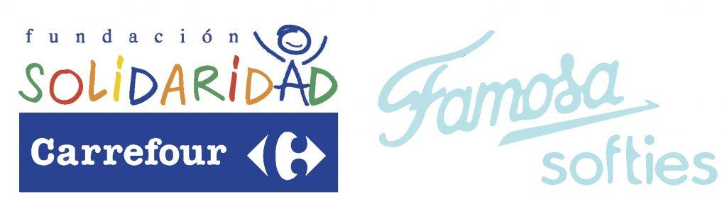 logotipos fundación carrefour y juguetes famosa